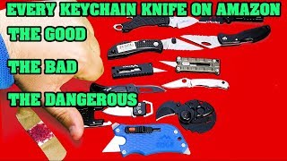 The best EDC keychain knife under $15  Comparing everyone on Amazon The Good,,The Bad, The Dangerous