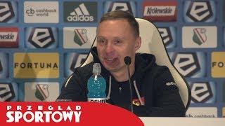 """Trener Jagiellonii po wygranej z Legią 2:0: """"Nie możemy odlecieć"""""""
