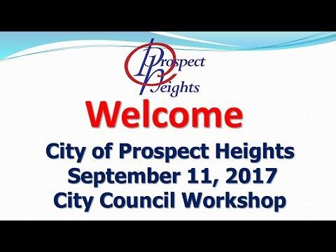 September 11, 2017 City Council Workshop