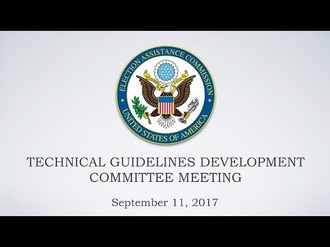 Technical Guidelines Development Committee (TGDC) Meeting — Day 1