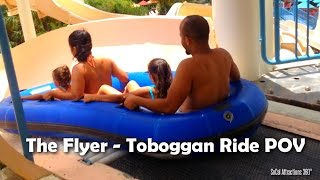 [HD] The Flyer POV - Toboggan Water Ride - Wet
