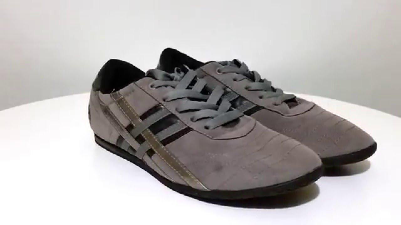 70827229bcec4 US Polo Assn men s gray silver black tennis sneakers lace up shoes size 11M