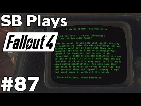 Investigating the Secret of University Point - SB Plays Fallout 4 [ep87]
