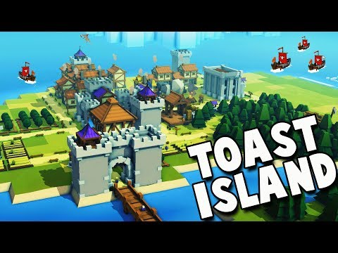 NEW Toast Island Kingdom!  STEAM RELEASE for Kingdoms and Castles New Update Gameplay