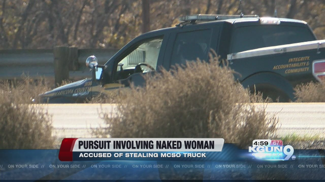 AERIALS: Naked woman in custody after stealing MCSO