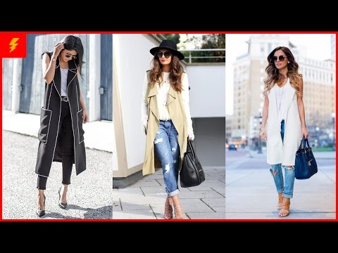 How To Wear Long Vest Look Outfits