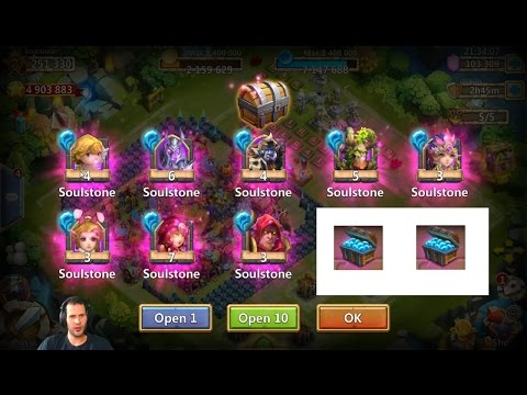 Opening Up Soulstone TRUNKS New Way To Get Heroes Castle Clash