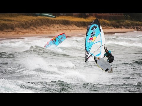 Windsurfing Lake Superior in Frigid Conditions