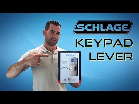 Schlage Keypad Entry Lever FE595 - Installation & Programming