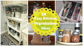 12 فكرة عملية لتنظيم مطبخك2016~ Easy Kitchen Organization Ideas and Tips with Pictures!