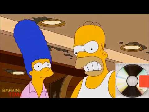Kanye West albums described with The Simpsons