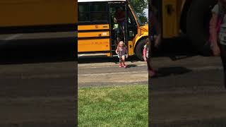 Siblings Reunite After First Day of School