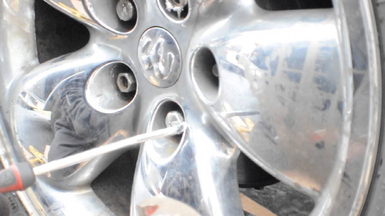medium resolution of how to remove chrome caps from lug nuts