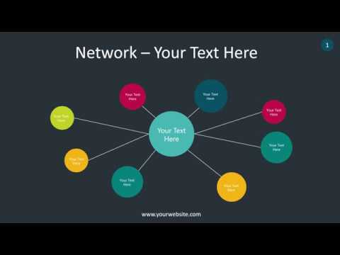Network Infographic Animated Powerpoint Template