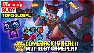 Comeback Is Real, MVP Ruby Gameplay [ Top 2 Global Ruby ] Macauly - Mobile Legends