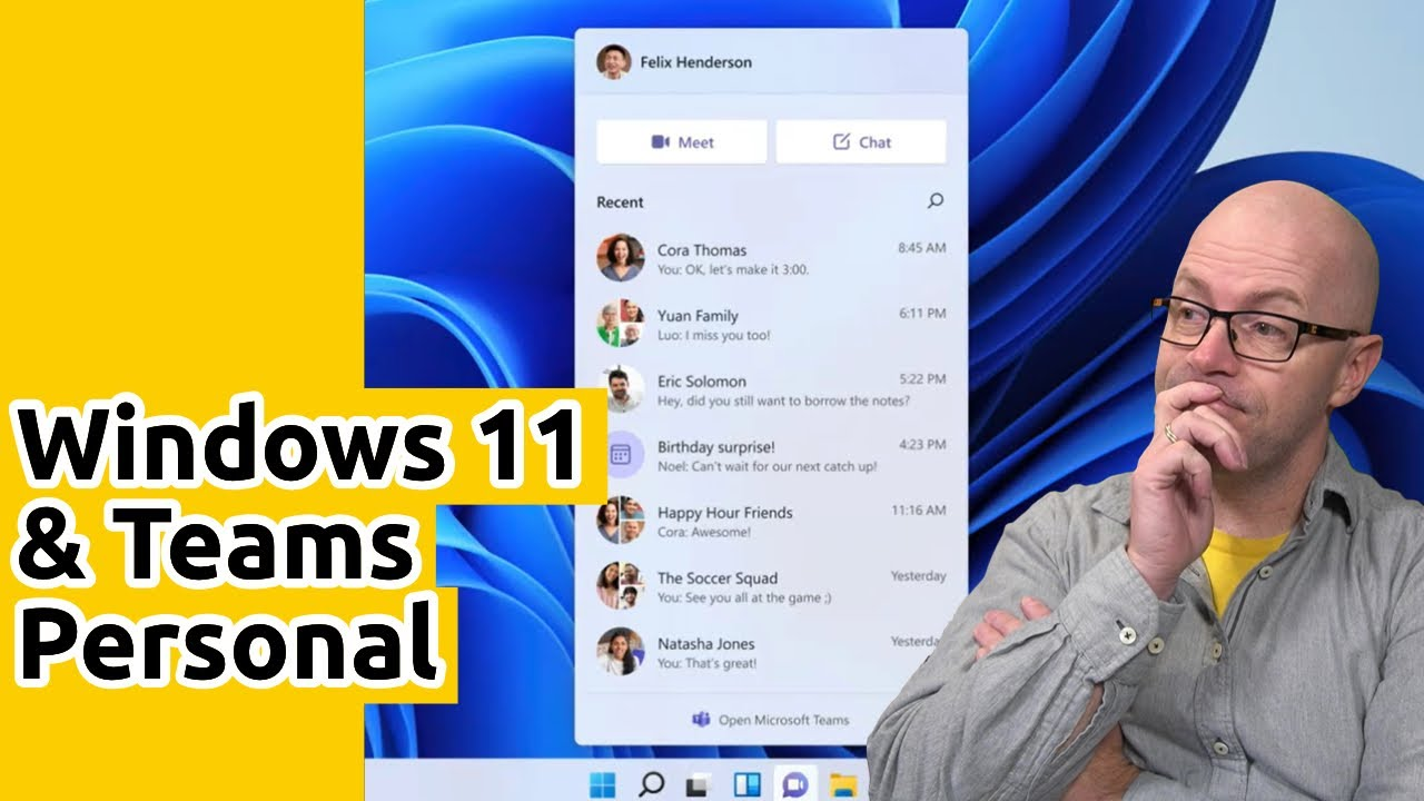Windows 11 and Microsoft Teams Personal Announcement