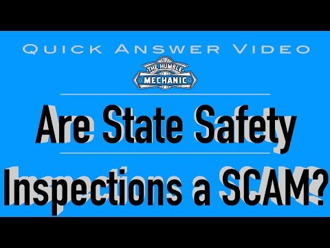 Are State Vehicle Inspections a SCAM?