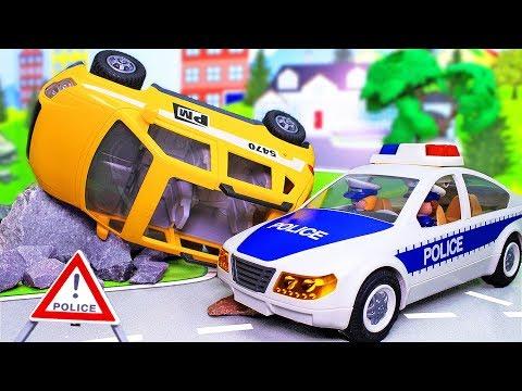 Новые мультики про машинки с игрушками Плеймобил Смелость! Мультфильмы 2019 про полицию и спасателей