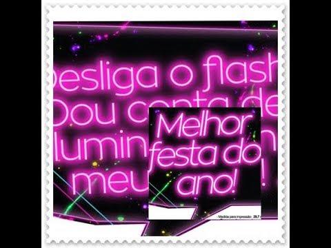 Plaquinhas Para Festa Neon Youtube