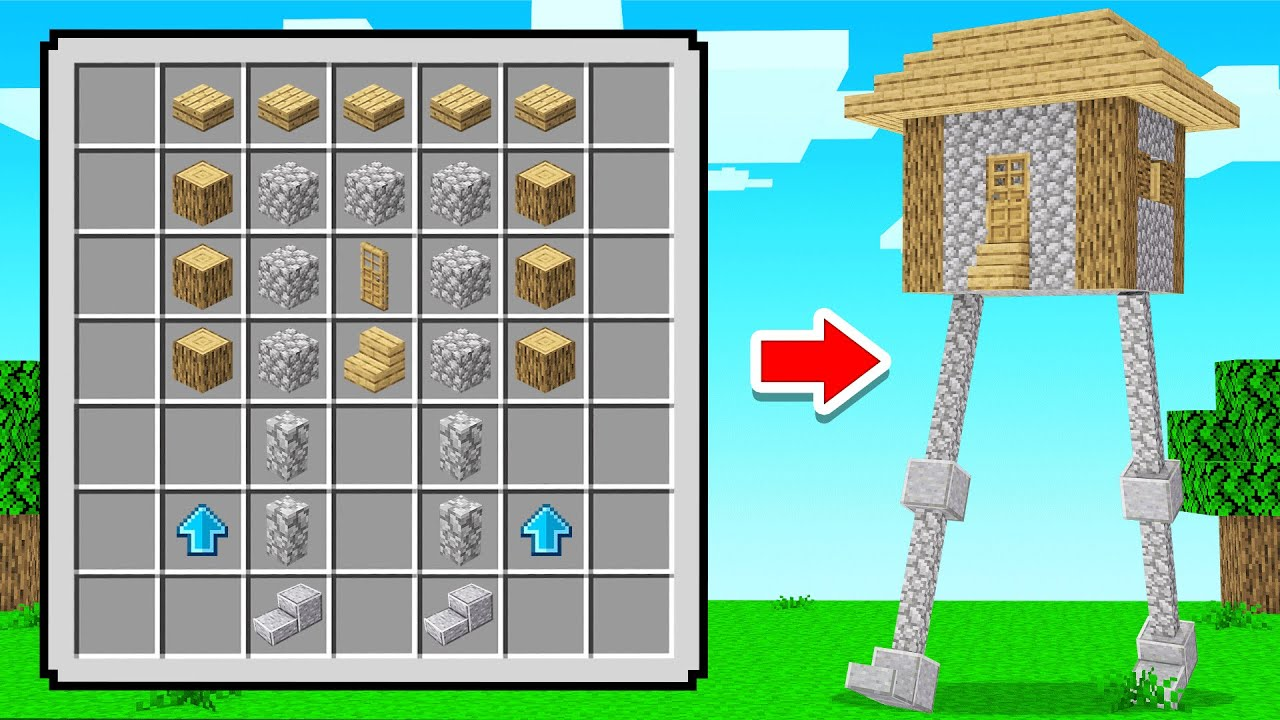 Crafting A WALKING HOUSE In Minecraft!