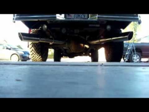 1997 f 250 diesel dual exhaust youtube