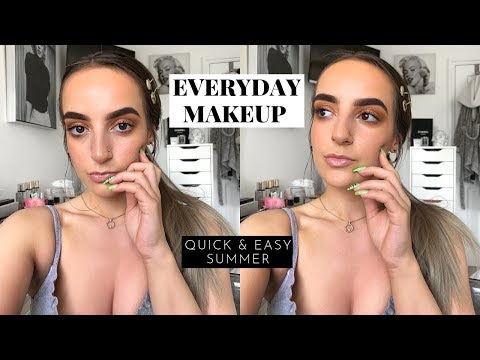 QUICK & EASY EVERYDAY MAKEUP | Summer Glow, Faux Freckles