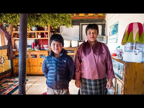 Bhutan Food at Culture at Local Farm Village in Phobjikha Valley, and a YAK BURGER! (Day 15)