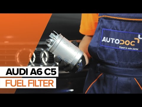 How to replace fuel filter on AUDI A6 C5 TUTORIAL | AUTODOC