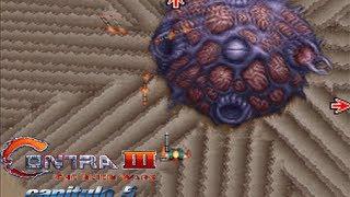 Contra 3 The Alien Wars capitulo 5 el laberinto desierto de arena