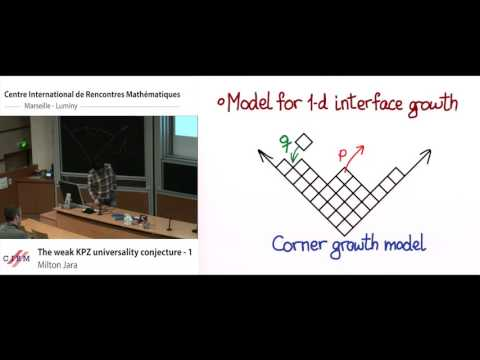 Milton Jara : The weak KPZ universality conjecture - 1