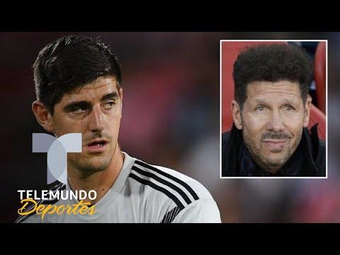 El palo de Courtois a Simeone luego del hachazo de Luka Modric | La Liga | Telemundo Deportes