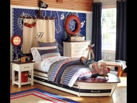 Nautical themed bedroom decorating ideas - YouTube