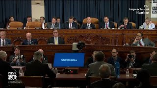 Republican counsel Steve Castor's full questioning of George Kent and Bill Taylor