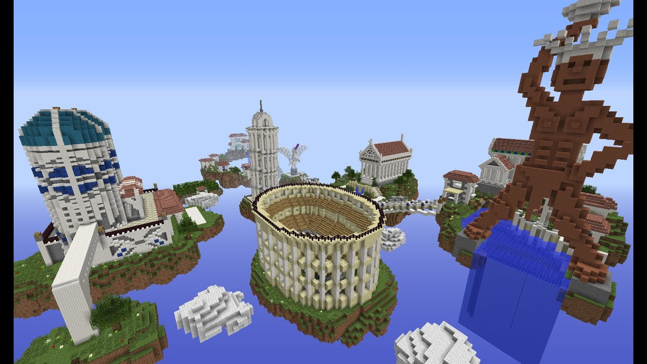 Greek Architecture Minecraft minecraft huge greek floating city tour: building with optical