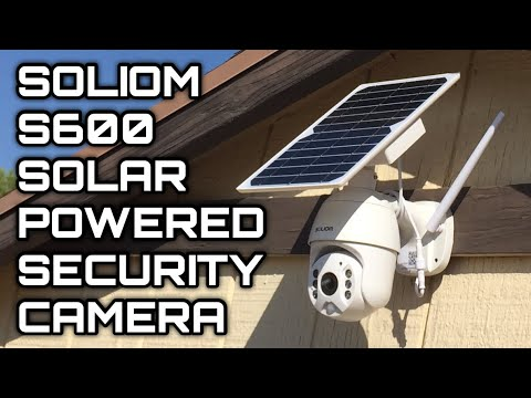 Best SOLAR POWERED Wireless PTZ 1080p Motion Detection Spotlight Outdoor Security Cam Soliom S600