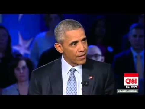 Full HD President Barack Obama Town Hall CNN Gun Control America Jan 7, 2016 1/7/2016