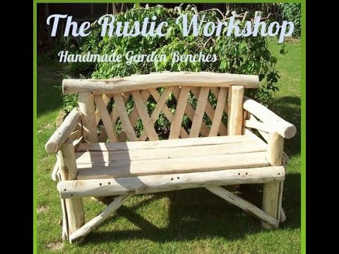 Handmade Rustic Garden Benches From The