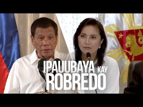 24 Oras: Malacañang: Ipinauubaya na ni President Duterte kay VP Robredo ang drug war