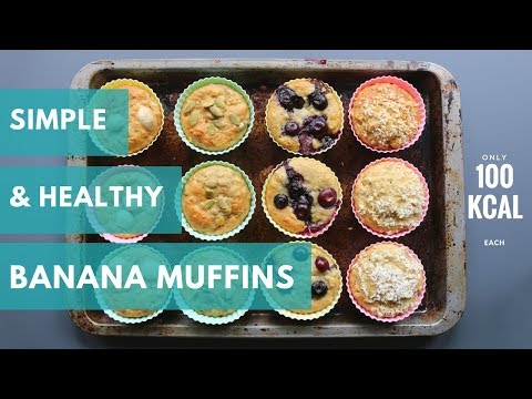 Easy low fat banana chocolate chip muffins