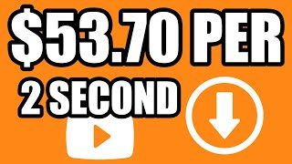 Earn $53.70/2 SECOND Video Download! Get Paid Taking Pictures & Videos With Your Phone!
