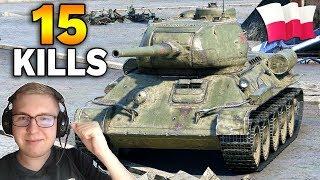 15 FRAGÓW !!! - World of Tanks