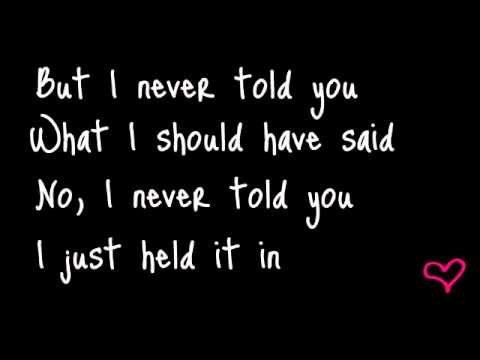 Colbie Caillat  I never told you Lyrics
