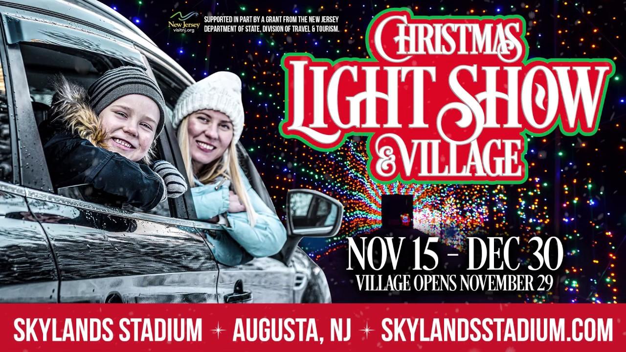 Skylands Christmas Light Show 2020 2019 Skylands Stadium Christmas Light Show & Village   YouTube