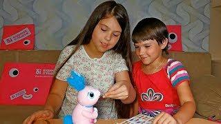 Интерактивная игрушка - робот Zoomer Кролик. Новый питомец? Маша Машуня и Лялечка Юля.