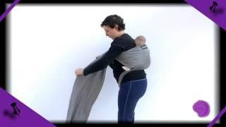 Cruz envolvente a la espalda con fular elástico