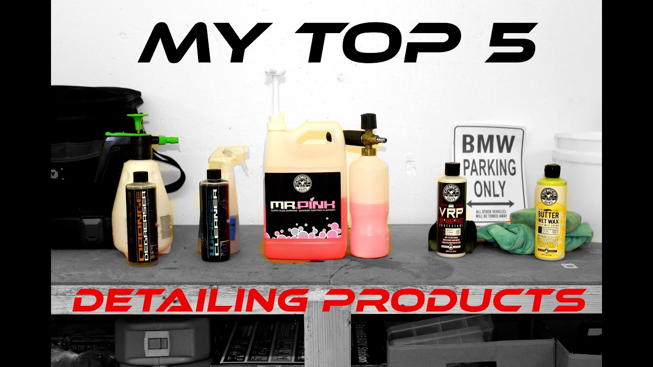 top 5 car detailing products chemical guys exterior youtube. Black Bedroom Furniture Sets. Home Design Ideas
