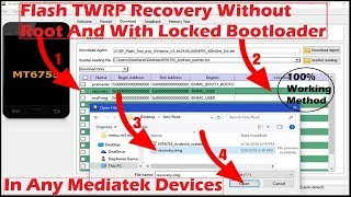 Flashing TWRP Recovery Without Root/Without Unlocking Bootloader In Any MTK devices [HINDI] |2018