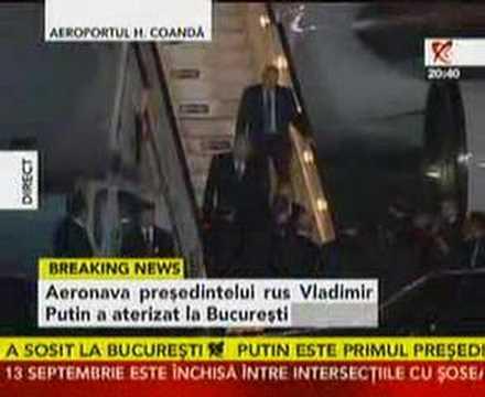 Vladimir Putin a ajuns la Bucureşti