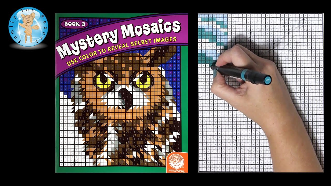 mindware mystery mosaics book 3 coloring book time lapse speed color animal family toy report. Black Bedroom Furniture Sets. Home Design Ideas