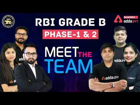 RBI Grade B 2021 Officer Preparation for Phase 1 & 2 | Meet The Team for RBI Preparation Adda247